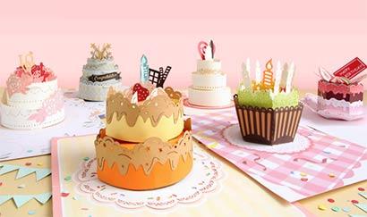 cake birthday popup card
