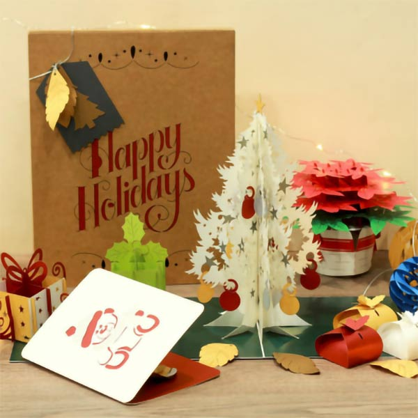 christmas 3d popup card chicago